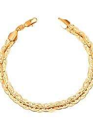 cheap -Men's Link / Chain Bracelet - Creative Fashion Bracelet Gold / Black / Silver For Gift / Daily