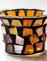 economico -Moderno / Contemporaneo vetro Candele Candelabro 1pc, Candela / portacandele