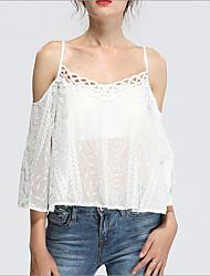 billige -Dame - Ensfarvet Basale Bluse