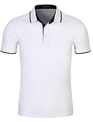 cheap -Men's Sports Polo - Solid Colored Shirt Collar / Short Sleeve