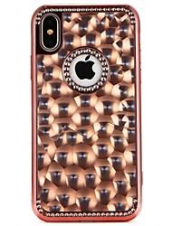 preiswerte -Hülle Für Apple iPhone X / iPhone 8 Strass Rückseite Herz / Farbverläufe Weich TPU für iPhone X / iPhone 8 Plus / iPhone 8