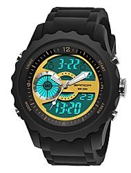 baratos -SANDA Homens Relógio Esportivo / Relogio digital Japanês Calendário / Impermeável / Cronômetro Silicone Banda Luxo / Fashion Preta