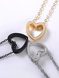 preiswerte -Damen Einzelkette Anhängerketten / Charm Halskette - Herz Modisch, Koreanisch, nette Art lieblich Gold, Schwarz, Silber 48 cm Modische Halsketten Schmuck 1pc Für Alltag, Strasse, Ausgehen