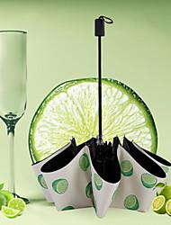 Недорогие -Полиэстер / Нержавеющая сталь Все Солнечный и дождливой / Recyclable Складные зонты