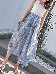 cheap -Women's Going out A Line Skirts - Floral