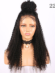 cheap -Remy Human Hair Lace Front Wig Brazilian Hair Jerry Curl Wig 130% With Baby Hair / Natural Hairline / African American Wig Natural Women's Long Human Hair Lace Wig