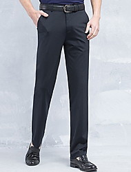 cheap -Men's Plus Size Slim Suits Pants - Solid Colored / Work / Weekend