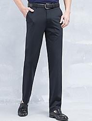 abordables -Hombre Tallas Grandes Delgado Traje Pantalones - Un Color / Trabajo / Fin de semana