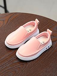 baratos -Para Meninos / Para Meninas Sapatos PVC Primavera & Outono Conforto Mocassins e Slip-Ons para Branco / Preto / Rosa claro