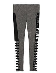 cheap -Women's Sporty Legging - Letter High Waist
