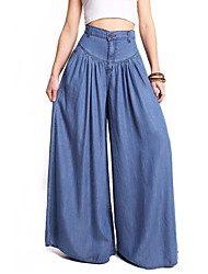 cheap -Women's Cotton Loose Wide Leg / Chinos Pants - Solid Colored