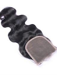 cheap -Brazilian Hair 4x4 Closure Wavy Swiss Lace Human Hair Women's Best Quality Daily Wear