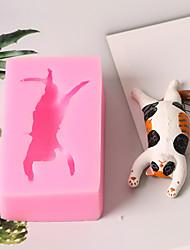 Недорогие -Инструменты для выпечки Силикон 3D в мультяшном стиле / Креатив / День рождения Торты / Для приготовления пищи Посуда / Для торта Квадратный Формы для пирожных 1шт