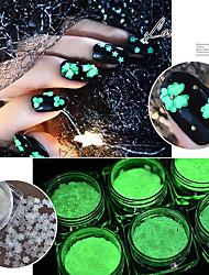 baratos -2pcs Dicas de unhas artificiais Purpurina Criativo / Luminoso / Adorável arte de unha Manicure e pedicure Glitters / Retro Festa de Casamento / Roupa Diária