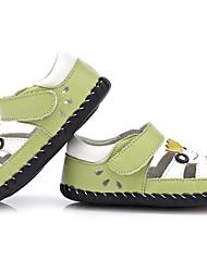 Недорогие -Мальчики / Девочки Обувь Кожа Лето Обувь для малышей Сандалии На липучках для Дети Зеленый / Синий / Розовый