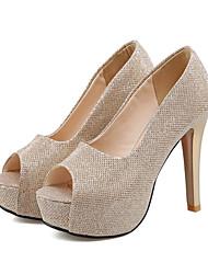 baratos -Mulheres Sapatos Couro Ecológico Outono & inverno Plataforma Básica Saltos Salto Agulha Peep Toe Vermelho / Azul / Rosa claro / Festas & Noite