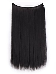 cheap -Synthetic Extentions Straight Synthetic Hair 20 inch Hair Extension Flip In One-piece Suit Women Extention Women's Daily Wear