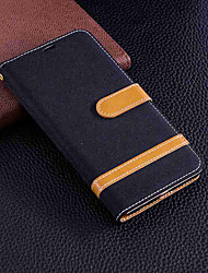 cheap -Case For Huawei Huawei Y9 (2018)(Enjoy 8 Plus) / Y6 (2017)(Nova Young) Wallet / Card Holder / with Stand Full Body Cases Solid Colored Hard Textile for Huawei Y9 (2018)(Enjoy 8 Plus) / Huawei Y7(Nova