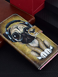 billige -Etui Til Apple iPhone X / iPhone 8 Plus Lommebok / Kortholder / med stativ Heldekkende etui Hund Hard PU Leather til iPhone X / iPhone 8 Plus / iPhone 8