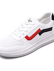 baratos -Homens sapatos Com Transparência Outono Conforto Tênis Branco / Preto