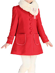 cheap -Kids Girls' Solid Colored Long Sleeve Jacket & Coat