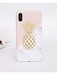 abordables -Funda Para Apple iPhone X / iPhone 8 Antigolpes / IMD / Diseños Funda Trasera Fruta / Mármol Suave TPU para iPhone X / iPhone 8 Plus / iPhone 8