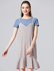 cheap -Women's Tank Top - Polka Dot Dress