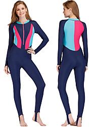 abordables -SBART Femme Combinaison Fine Protection solaire UV, Séchage rapide, Design Anatomique Nylon / Spandex Coque Intégrale Maillots de Bain Tenues de plage Tee-shirts anti-UV, tops thermiques Natation