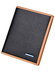 cheap -Men's Bags PU(Polyurethane) Wallet Solid Geometric Black / Beige