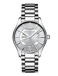 cheap -Men's Dress Watch / Wrist Watch Chinese Creative / Casual Watch Stainless Steel Band Elegant Silver