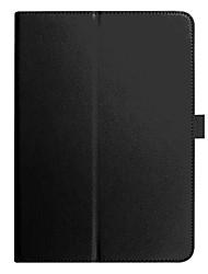 Недорогие -Кейс для Назначение SSamsung Galaxy Tab A 10.1 (2016) со стендом Чехол Однотонный Твердый Кожа PU