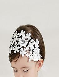 abordables -Bébé / Nourrisson Fille Doux Quotidien / Sortie Motif de flocon de neige Mousseline de soie Accessoires Cheveux Blanc Taille unique