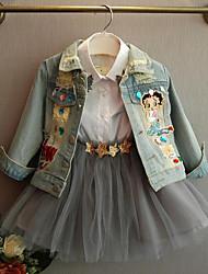 cheap -Kids Girls' Patchwork Long Sleeve Suit & Blazer