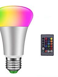 economico -1pc 10 W 900 lm E26 / E27 Lampadine globo LED / Lampadine LED smart 6 Perline LED SMD 5050 Smart / Oscurabile / Controllo a distanza RGBW 85-265 V
