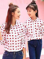 cheap -Adults / Kids Mommy and Me Geometric Long Sleeve Shirt