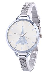 cheap -Women's Dress Watch / Wrist Watch Chinese Large Dial Alloy Band Eiffel Tower / Minimalist Silver / Gold