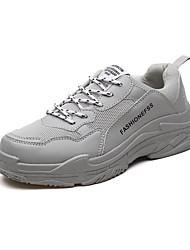 Недорогие -Муж. Полиуретан / Эластичная ткань Осень Удобная обувь Спортивная обувь Для прогулок Черный / Бежевый / Серый
