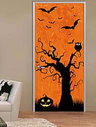 Недорогие -Декоративные наклейки на стены / Дверные наклейки - Наклейки для животных Пейзаж / Halloween Гостиная / Спальня / Ванная комната