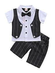 Недорогие -малыш Мальчики Полоски С короткими рукавами Набор одежды