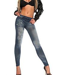 preiswerte -Damen Alltag Grundlegend Legging - Geometrisch Hohe Taillenlinie