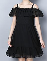cheap -women's a line dress knee-length off shoulder