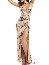 preiswerte -Damen Grundlegend Hülle Kleid Blumen Maxi