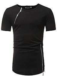 billige -Herre - Ensfarvet Basale / Gade T-shirt