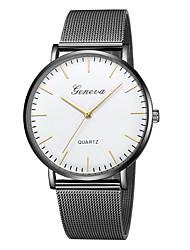 baratos -Geneva Mulheres Relógio de Pulso Chinês Novo Design / Relógio Casual / Legal Lega Banda Casual / Fashion Preta / Dourada / Um ano