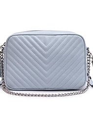 baratos -Mulheres Bolsas PU Bolsa de Ombro Ziper Azul / Rosa