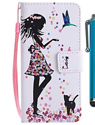 abordables -Funda Para Sony Xperia XZ2 Compact / Xperia XZ2 Cartera / Soporte de Coche / con Soporte Funda de Cuerpo Entero Gato / Chica Sexy Dura Cuero de PU para Xperia XZ2 / Xperia XZ2 Compact / Xperia XZ1