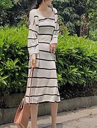 abordables -Mujer Conjunto - A Rayas Vestidos