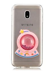 ieftine -Maska Pentru Samsung Galaxy J7 Prime / J5 Prime Scurgere Lichid Capac Spate Desene Animate Moale TPU pentru J7 Prime / J7 (2017) / J7 (2016)
