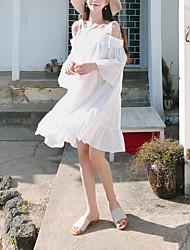 Недорогие -Жен. Свободный силуэт А-силуэт Платье На бретелях Выше колена