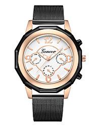 abordables -Geneva Femme Montre Bracelet Chinois Design nouveau / Montre Décontractée / Cool Alliage Bande Décontracté / Mode Noir / Or Rose